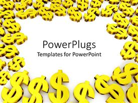 PowerPlugs: PowerPoint template with a number of dollar signs with place for text in middle