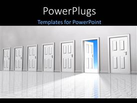 PowerPlugs: PowerPoint template with a number of dorrs with only one open