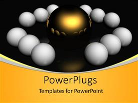 PowerPlugs: PowerPoint template with a number of eggs along with a golden one in the center