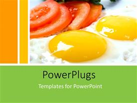 PowerPlugs: PowerPoint template with a number of eggs with tomatoes and yellowish background