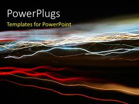 PowerPlugs: PowerPoint template with a number of electrical lines of various colors