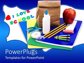 PowerPlugs: PowerPoint template with a number of elements and fruits together