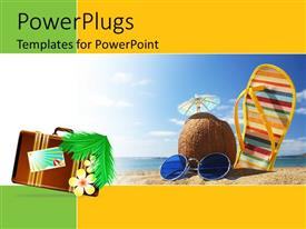 PowerPlugs: PowerPoint template with a number of elements necessary to enjoy time on beach