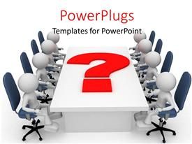PowerPlugs: PowerPoint template with a number of employees in the meeting