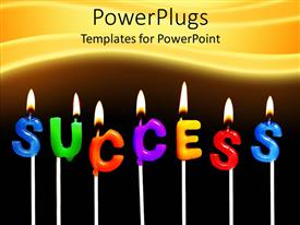 PowerPlugs: PowerPoint template with a number of english letters make the words success