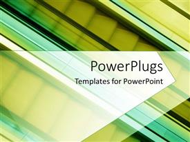 PowerPlugs: PowerPoint template with a number of escalators with yellowish background