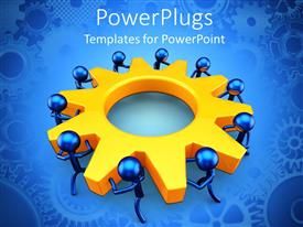 PowerPlugs: PowerPoint template with a number of figures along with a gear
