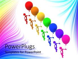 PowerPlugs: PowerPoint template with a number of figures with balloons