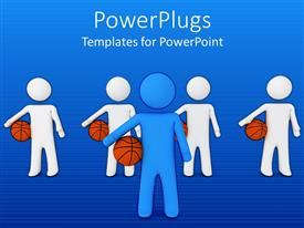 PowerPlugs: PowerPoint template with a number of figures with basketballs