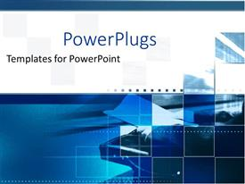 PowerPoint template displaying a number of figures in blue color