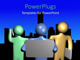 PowerPlugs: PowerPoint template with a number of figures with a bluish background