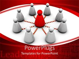 PowerPlugs: PowerPoint template with a number of figures connected to one in the center