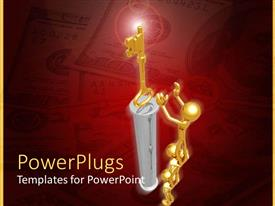 PowerPlugs: PowerPoint template with a number of figures helping each other to get the key
