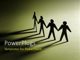 PowerPlugs: PowerPoint template with a number of figures holding each other's hands