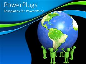 PowerPlugs: PowerPoint template with a number of figures holding the Earth