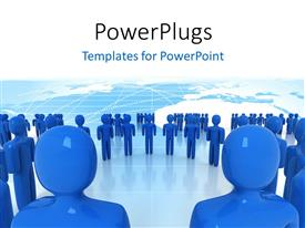 PowerPlugs: PowerPoint template with a number of figures with a map in background
