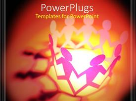 PowerPlugs: PowerPoint template with a number of figures moving in circle