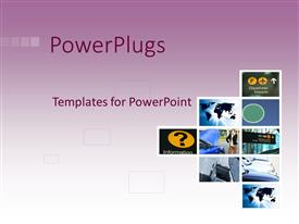 PowerPlugs: PowerPoint template with a number of figures with pinkish background