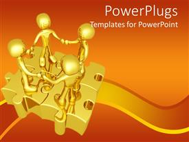 PowerPlugs: PowerPoint template with a number of figures on the puzzle pieces