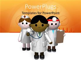 PowerPlugs: PowerPoint template with a number of figures representing doctors