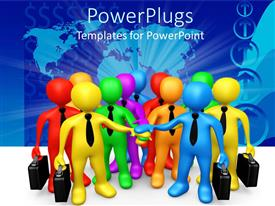 PowerPlugs: PowerPoint template with a number of figures showing professionalism