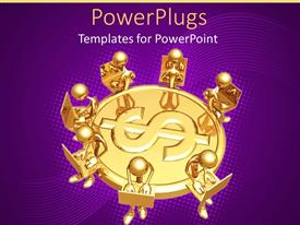 PowerPlugs: PowerPoint template with a number of figures sitting around a dollar sign