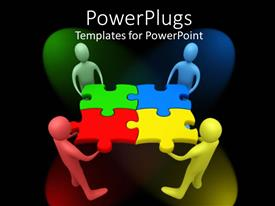PowerPlugs: PowerPoint template with a number of figures solving  a puzzle