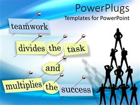 PowerPlugs: PowerPoint template with a number of figures standing as a team