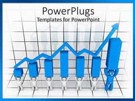 PowerPlugs: PowerPoint template with a number of figures together holding financial signs