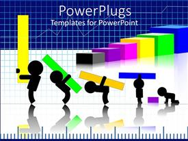 PowerPlugs: PowerPoint template with a number of figures trying to hold on different graph shapes