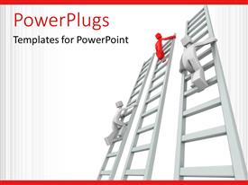 PowerPlugs: PowerPoint template with a number of figures on various ladders