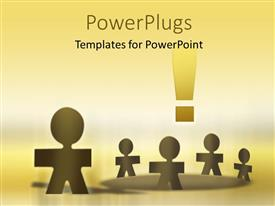 PowerPlugs: PowerPoint template with a number of figures with yellowish background