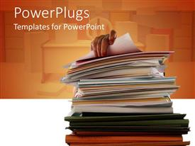 PowerPlugs: PowerPoint template with a number of files together with orange background