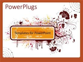 PowerPlugs: PowerPoint template with a number of floral patterns with white background
