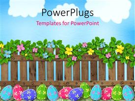 PowerPlugs: PowerPoint template with a number of flowers with colorful stones