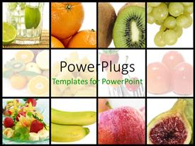 PowerPlugs: PowerPoint template with a number of fruits with place for text