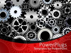 PowerPlugs: PowerPoint template with a number of gears with place for text