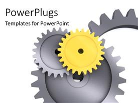 PowerPlugs: PowerPoint template with a number of gears with white background and place for text