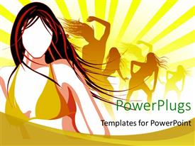 PowerPlugs: PowerPoint template with a  number of girls enjoying their time