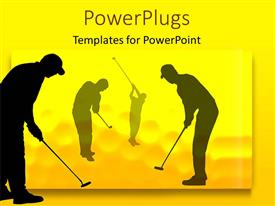 PowerPlugs: PowerPoint template with a number of golfers playing the game