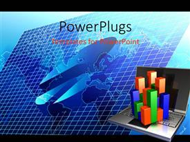 PowerPlugs: PowerPoint template with a number of graph elements with a laptop
