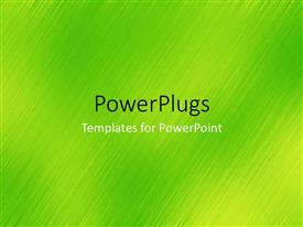 PowerPlugs: PowerPoint template with a number of green lines with place for text