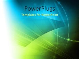 PowerPlugs: PowerPoint template with a number of greenish and bluish background