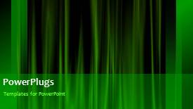 PowerPoint template displaying a number of greenish lines in the background - widescreen format