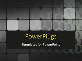 PowerPlugs: PowerPoint template with a number of grey boxes with black background