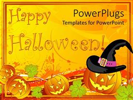 PowerPlugs: PowerPoint template with a number of Halloween pumpkin figures and celebration stuff