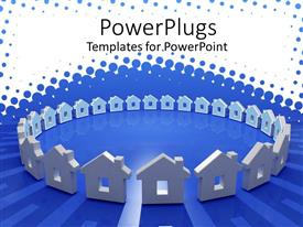 PowerPlugs: PowerPoint template with a number of houses in a circle