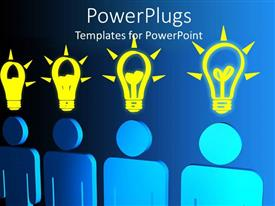 PowerPlugs: PowerPoint template with a number of ideas with bluish background and place for text