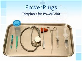 PowerPlugs: PowerPoint template with a number of injections along with a stethoscope