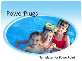 PowerPlugs: PowerPoint template with a number of kids enjoying in a pool